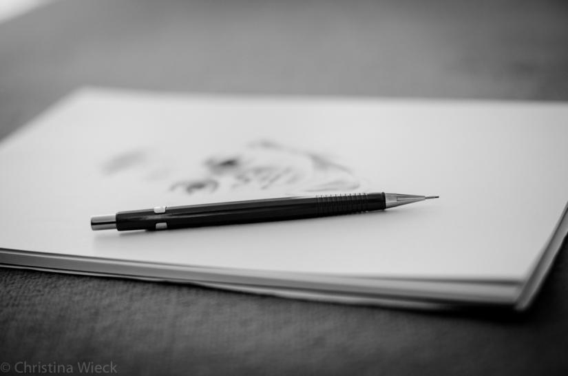 Der Bleistift ruht